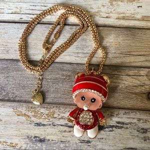 NEW✨ Betsey Johnson Red Crystal Baby Doll Necklace